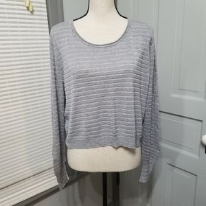 Lane Bryant Cropped Shimmer Lightweight Sweater